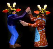 dancing giraffes