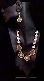 handmade SS Ammonite neck and earr