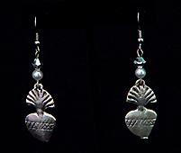 heart milagro earrings