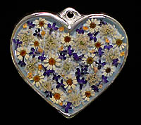 pewter heart with flowers