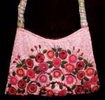 flowered pink purse