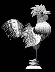 Rooster in tin