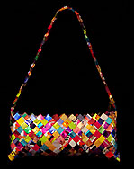 Recycled wrapper purse